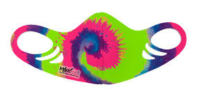 Kids Antimicrobial Spacer Face Mask - Fluorescent Tie Dye